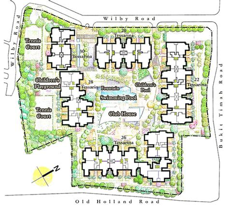 site floor plan siteplan and facilities the tessarina at wilby rd
