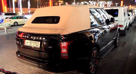 land rover dubai range rover convertible spotted at the dubai mall