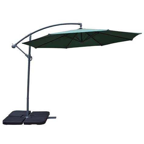 heavy duty patio umbrellas oakland living 10 ft cantilever umbrella and 4 pcs fillable polyresin heavy duty stands in