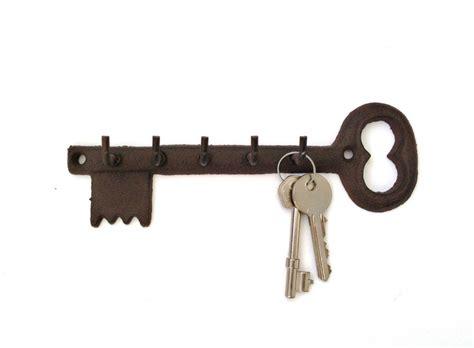 Key Rack Holder by Key Shaped Key Holder Rack Five 5 Hooks Vintage Black