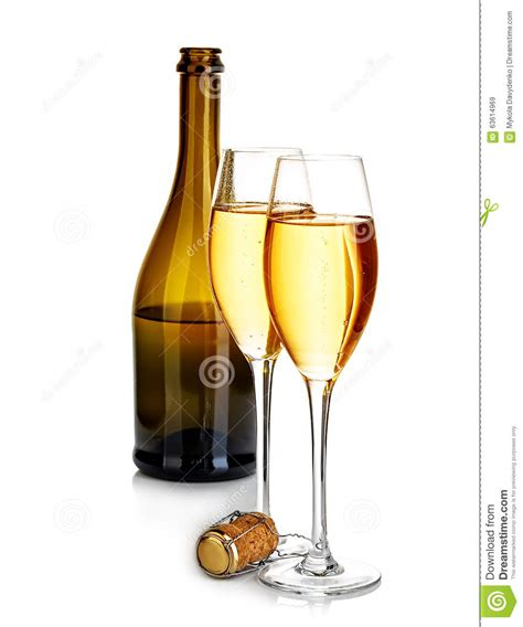 elegant life glasses of chagne on elegant flute glasses stock image