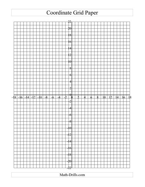 printable graph paper math drills worksheet blank coordinate grid debnamcareyweb
