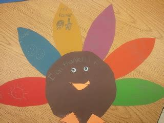 Construction Paper Turkey Craft - classroom cupcakes turkey craftivity free pattern