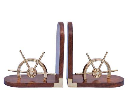 nautical home decor wholesale buy brass ship wheel book ends wholesale nautical home