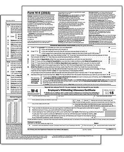 2017 W-4 Standard Form | Federal Tax Forms | Amsterdam ... W 4 Form 2015 Printable Spanish Irs