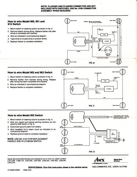 signal stat 900 wiring diagram signal stat 900 turn signal
