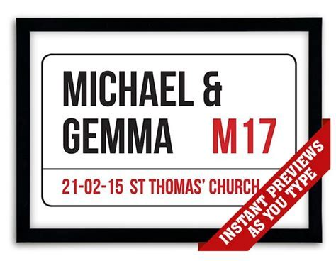 Personalized London Street Sign Print or Canvas
