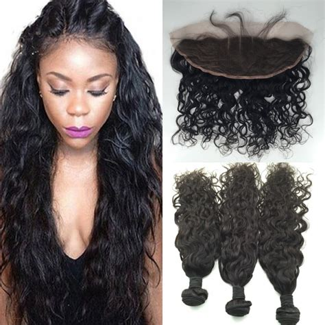 full frontal closures in jacksonville fl peruvian lace frontal closure with bundles water wave 4pcs