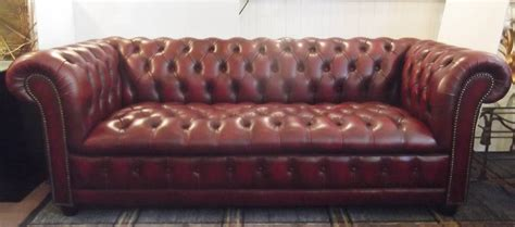 cordovan leather sofa cordovan leather english chesterfield sofa at 1stdibs