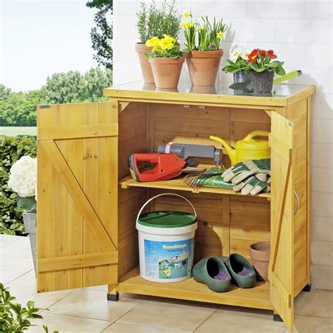 armadietti in legno armadietto da esterno in legno con piano lavoro per