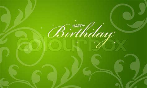 happy green color green happy birthday card stock photo colourbox