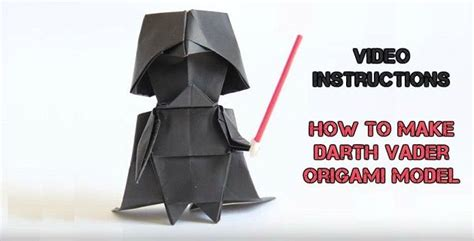 How To Make A Origami Darth Vader Finger Puppet - 25 best ideas about origami darth vader on