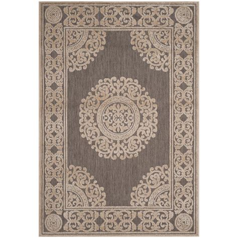Cottage Area Rugs Safavieh Cottage Indoor Outdoor Taupe 4 Ft X 6 Ft Area Rug Cot924t 4 The Home Depot