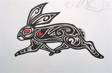rabbit tribal tattoo tribal bunny by domeniinebunie on deviantart