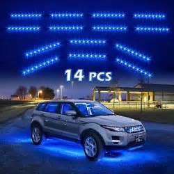 Ebay Car Lighting 14pc Blue Led Car Lights Truck Suv Neon Lighting Kit