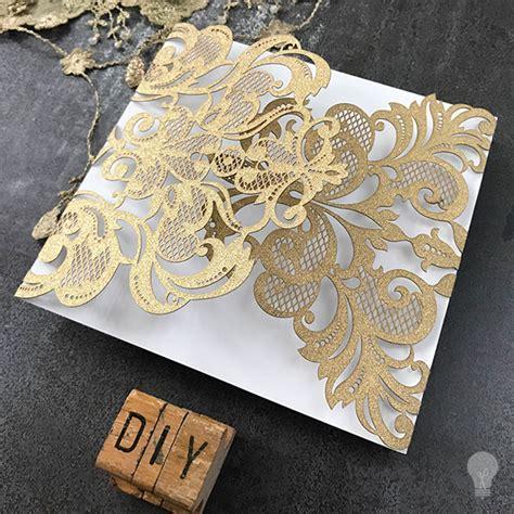 rococo laser cut range gold glitter imagine diy