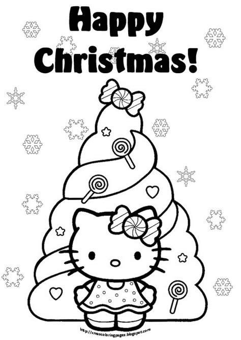 coloring pages of hello kitty christmas free coloring pages of hello kitty christmas