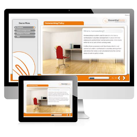 online tutorial home home working compliance health and safety elearning