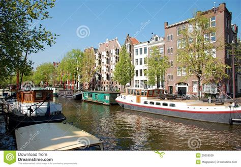 boat houses amsterdam canal of amsterdam houses boats royalty free stock images image 20659559