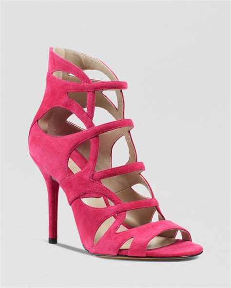 caged sandals heels michael kors caged sandals casey strappy high heel in