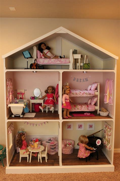 american dolls houses doll house plans for american girl or 18 inch dolls 5 room