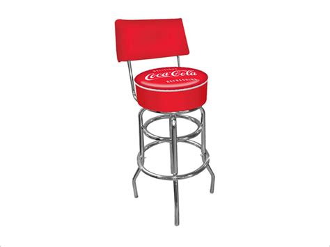Coca Cola Stools by Coca Cola Vintage Pub Stool With Back Neweggflash