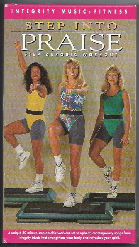 step  praise aerobic exercise video vhs integrity  vintage tape