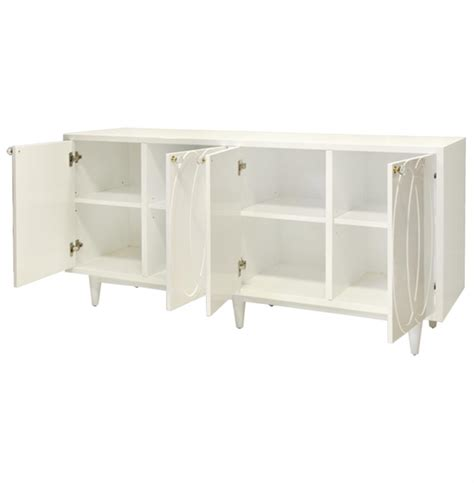 White Lacquer Media Cabinet by Priscilla Regency White Lacquer Media Cabinet