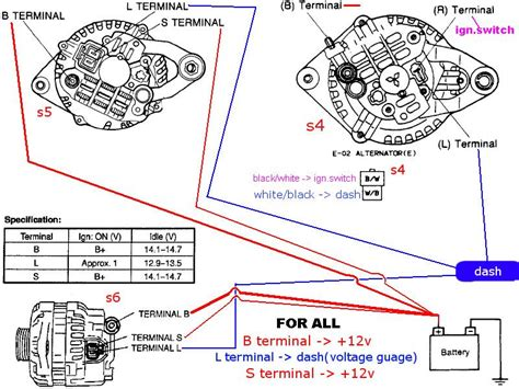 alternator diagram alternator wiring from scratch rx7club