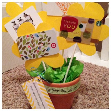 Gift Card Amount For Teachers - teacher gift even small amounts 5 per flower would be super nice at the end of the