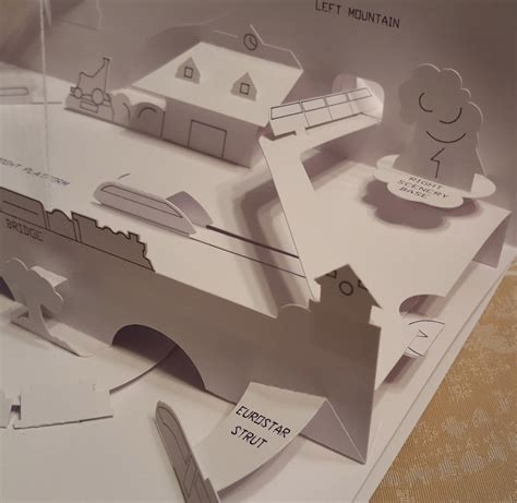 Design Brief For A Pop Up Book | trains for a pop up book rob kelly design