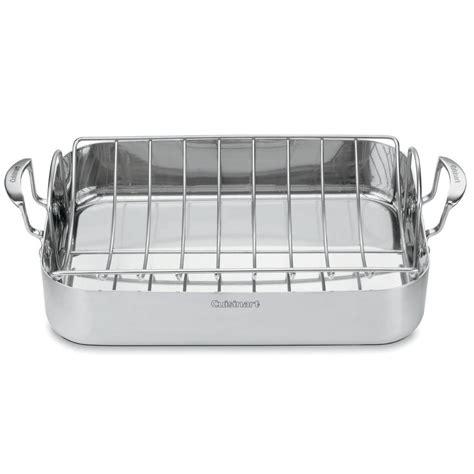 Farberware Roasting Pan With Rack by Cuisinart Multiclad Pro 6 Qt Stainless Steel Roasting Pan