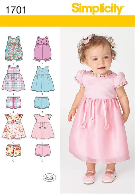 infant pattern video simplicity 1701 babies dress and separates