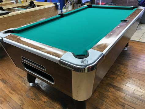 table 061517 valley used coin operated pool table used