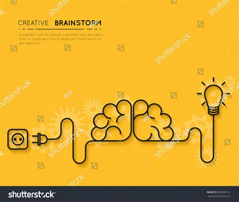 how to pattern your idea creative brainstorm concept business idea innovation stock