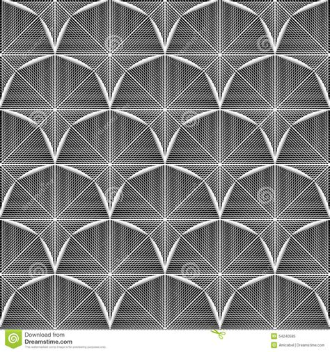 octagon pattern vector design seamless monochrome octagon pattern stock vector