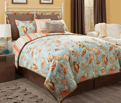 Seashell Comforter Sets by Barbados Green Seashell 8 Comforter Set