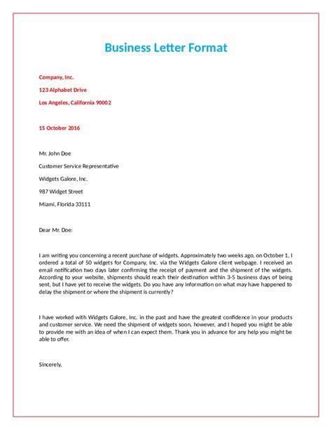 Formal Letter Format Letters Free Sle Letters Letter Writing Format