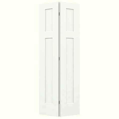 Jeld Wen Closet Doors Jeld Wen 24 In X 80 In Smooth 3 Panel Craftsman Hollow Molded Interior Closet Composite