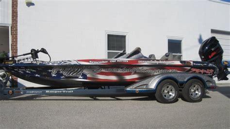 bass pro boat donation fundraiser by michael rodriquez fallen officer boat wrap