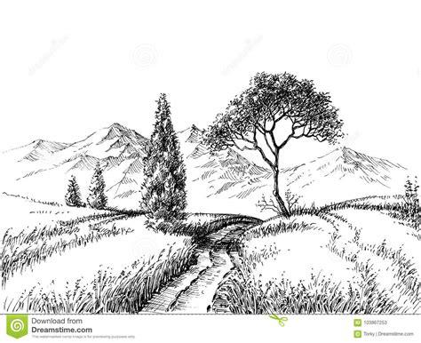 clipart matita disegno a matita paesaggio co illustrazione