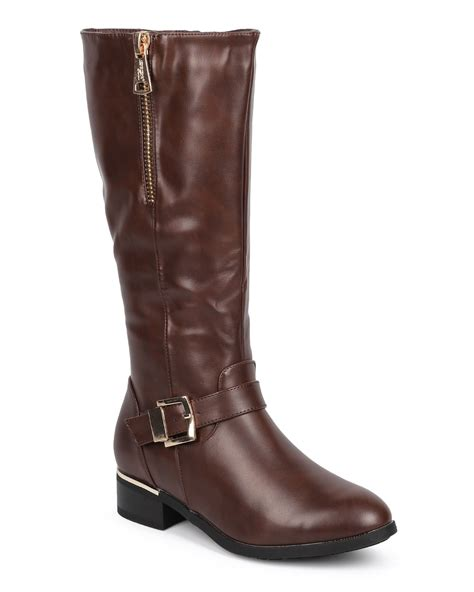 new dbdk orly 1 leatherette almond toe knee high zip