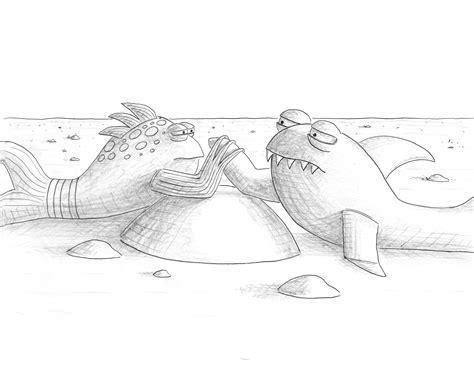 i pout pout fish coloring pages