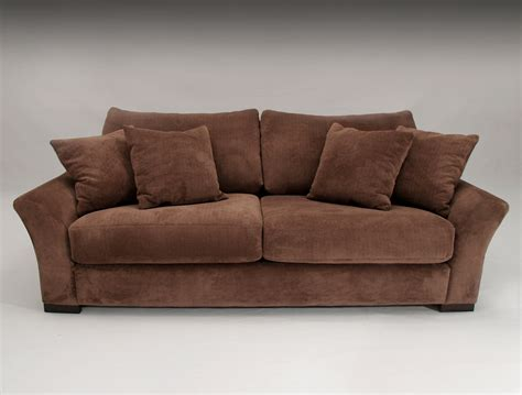 microfiber sofa set classic brown two cushion seat brown