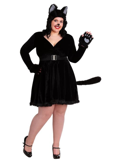 Cat Costume plus size s black cat costume