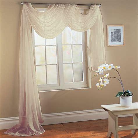 querbehang wohnzimmer querbehang freihanddeko aus transparentem voile die