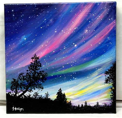 how to lighten acrylic paint on canvas reserved northern lights original acrylic by