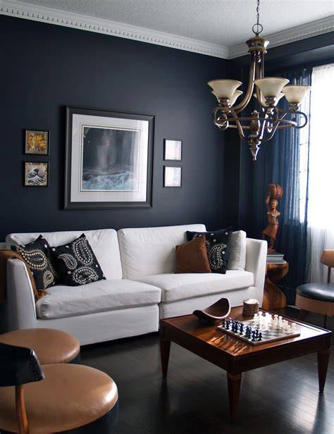 blue wall living room 15 beautiful dark blue wall design ideas