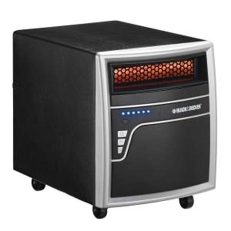 black decker 1000 watt electric infrared quartz heater