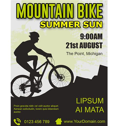 Mountain Bike Flyer Template Free Psd On Behance Bike Flyer Template Free